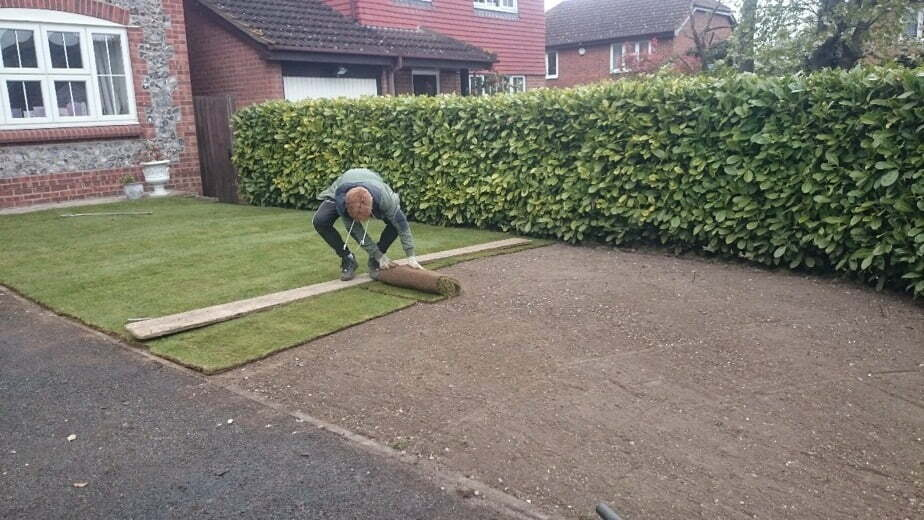 Turfing a Lawn with quality turf